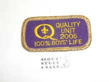 Quality Unit Patch, 2005