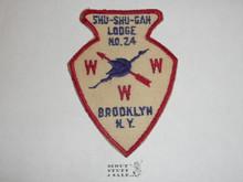 Order of the Arrow Lodge Shu-Shu-Gah #24 a1 Arrowhead Patch