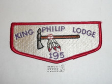 Order of the Arrow Lodge #195 King Philip s1 Flap Patch - Scout