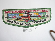 Order of the Arrow Lodge #228 Walika s Flap Patch, sewn