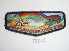 Order of the Arrow Lodge #298 San Gorgonio s5 Flap Patch, sewn