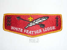 Order of the Arrow Lodge #499 White Feather s5 Flap Patch