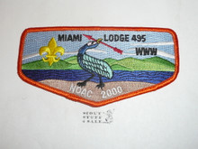 Order of the Arrow Lodge #495 Miami s25 2000 NOAC Flap Patch