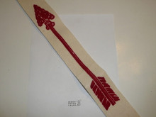 1950's Flocked Felt Ordeal Order of the Arrow Sash, Litely Used Condition