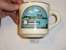 Great Rivers Council Mug with gold rim