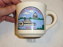 Great Rivers Council Mug with plain rim