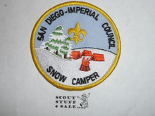 San Diego - Imperial Council Snow Camper High Adventure Team (HAT) Award Patch