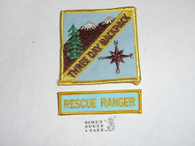 Three Day Backpack High Adventure Team (HAT) Award Patch, Rescue Ranger segment (SEGMENT ONLY)