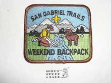 San Gabriel Trails Weekend Backpack High Adventure Team (HAT) Award Patch