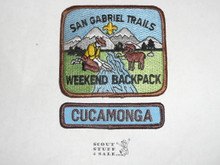 San Gabriel Trails Weekend Backpack High Adventure Team (HAT) Award Patch, Cucamonga Segment ONLY