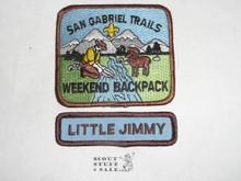San Gabriel Trails Weekend Backpack High Adventure Team (HAT) Award Patch, Little Jimmy Segment ONLY