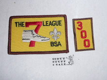 The 7 League High Adventure Team (HAT) Award Patch, 300 nights segment