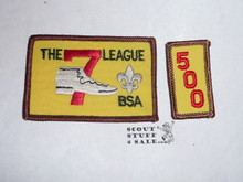 The 7 League High Adventure Team (HAT) Award Patch, 500 nights segment, rolled edge