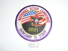 2001 National Jamboree Subcamp 15 STAFF Patch