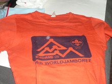 1975 World Jamboree Official Tee Shirt, Adult Small, Lite use