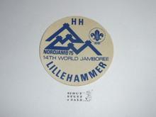 1975 World Jamboree Subcamp Sticker - Lillehmmer