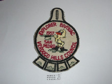 Verdugo Hills Council, Western Region, 1957 Explorer Bivouac Patch