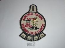 Verdugo Hills Council, Western Region, 1957 Explorer Bivouac Patch