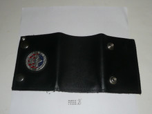 Leather Boy Scout Wallet with On My Honor / Timeless Values token on it