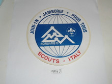 1975 World Jamboree Italian Contingent Sticker, jacket patch sized