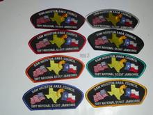 1997 National Jamboree JSP - Sam Houston Area Council, set of 8