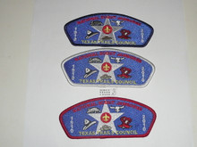 2010 National Jamboree JSP - Texas Trails Council, set of 3