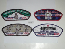 2010 National Jamboree JSP - Three Rivers Council, set of 4