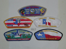 2013 National Jamboree JSP - Circle Ten Council, set of 5
