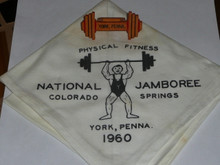 1960 National Jamboree York PA Contingent Neckerchief and NEAL Neckerchief Slide