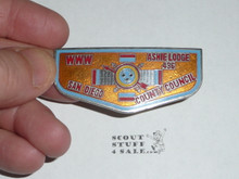 Order of the Arrow Lodge #436 Ashie Flap Shaped Metal Neckerchief Slide