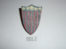 USA Theme Shield Shaped NEAL Neckerchief Slide