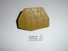 Camp Staff Tent Green NEAL Neckerchief Slide - RARE