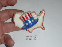 Uncle Sam Hat USA Plastic Neckerchief Slide