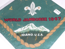 1967 Boy Scout World Jamboree Neckerchief, lite use
