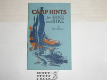 1925 Camp Hints for Hike and Bike, By Dan Beard