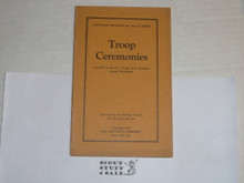 1925 Troop Ceremonies, By The Boycraft Company, Approved by the BSA, Booklet #A11