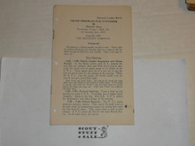 1926 Troop Program for November Leaflet, By The Boycraft Company, Approved by the BSA, Leaflet BS-12, RARE