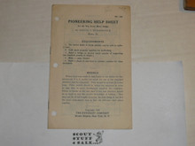 1928 Pioneering Help Sheet Leaflet, By The Boycraft Company, Approved by the BSA, Leaflet BS148, RARE