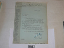 1964 Letter from Joseph Brunton congratulating a 25 year veteran, on National BSA Letterhead
