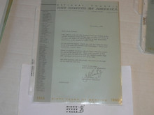 1960 Letter on Boy Scout National Headquarters Stationary from Joseph Brunton