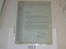 1961 Letter on Boy Scout National Headquarters Stationary from Joseph Brunton Congratulating Eagle Scout