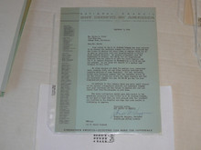 1963 Letter on Boy Scout National Headquarters Stationary #2