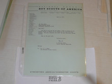 1967 Letter on Boy Scout National Headquarters Stationary Region 12