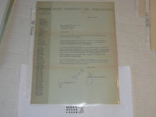 1967 Letter on Boy Scout National Headquarters Stationary from Joseph Brunton Congratulating a 40 year veteran, original signature