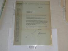 1967 Letter on Boy Scout National Headquarters Stationary from Joseph Brunton Congratulating a 40 year veteran, original signature