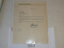 1973 Letter on Boy Scout National Headquarters Stationary from Alden Barber