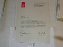 1985 Letter on Boy Scout National Headquarters Stationary Congratulating Eagle Scout