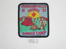 Verdugo Hills Council Summer Camp Patch, 1993