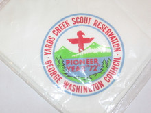 Yards Creek Scout Reservation Neckerchief, George Washington Council, 1972
