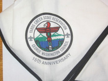 Yards Creek Scout Reservation Neckerchief, George Washington Council, 15th Anniversary